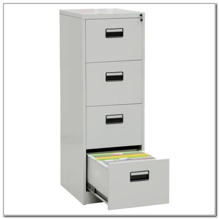 4 Drawer Metal Filing Cabinet With Lock