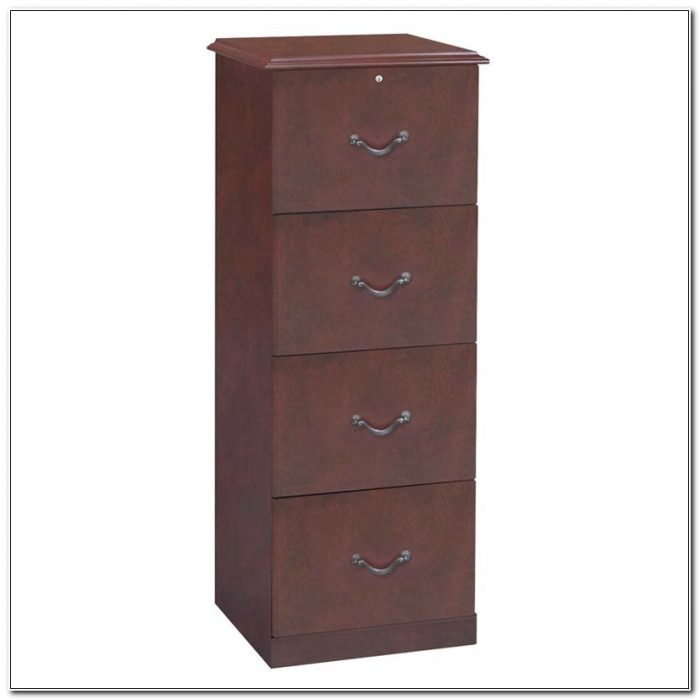 4 Drawer Wood File Cabinet Cherry