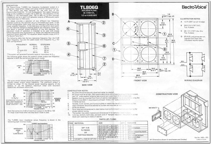 4 X 12 Speaker Cabinet Plans