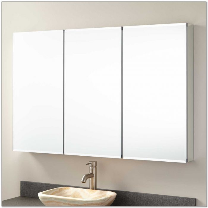 48 In Surface Mount Mirrored Medicine Cabinet