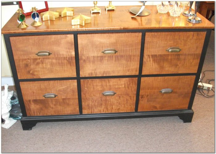 6 Drawer Wooden File Cabinet
