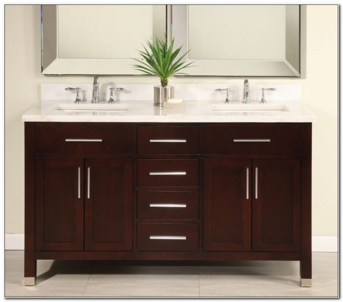 60 Inch Double Sink Bathroom Cabinets