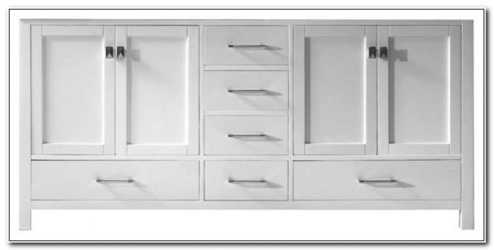 72 Bathroom Vanity White Cabinet Only
