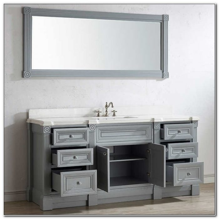 72 Single Bathroom Vanity Cabinets