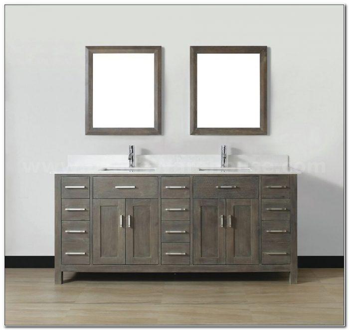 84 Double Sink Vanity Cabinet