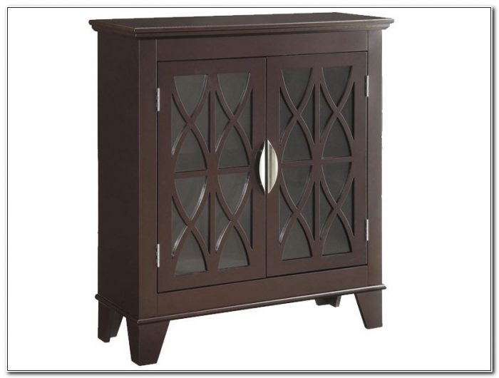Accent Cabinet With Glass Doors