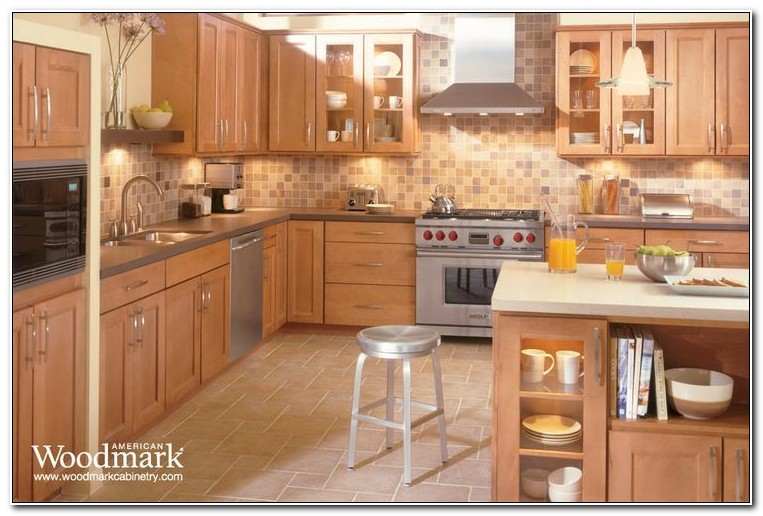 American Woodmark Maple Spice Kitchen Cabinets - Cabinet ...