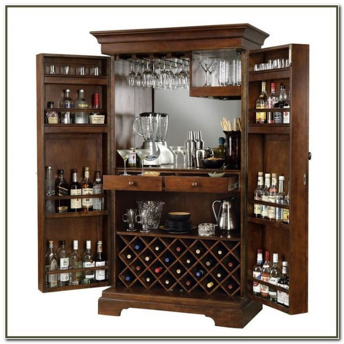 Bar Cabinet With Lock