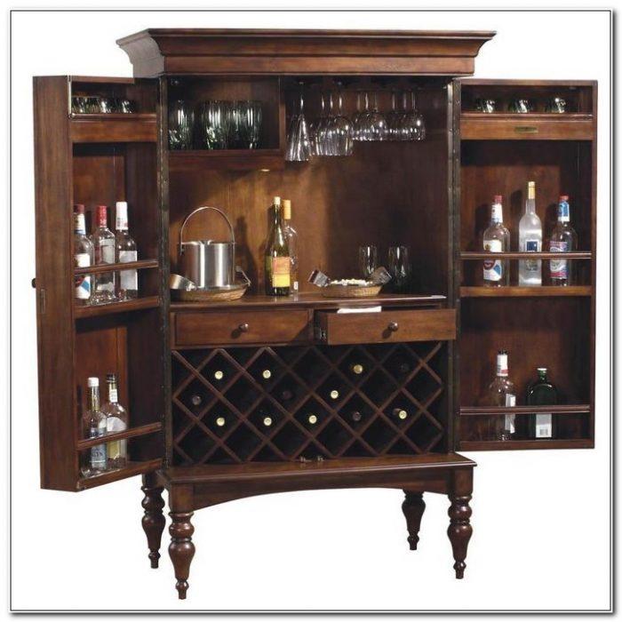 Bar Wine Rack Liquor Cabinet