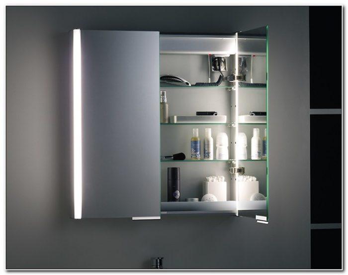 Bathroom Cabinet Mirror Shaving Socket