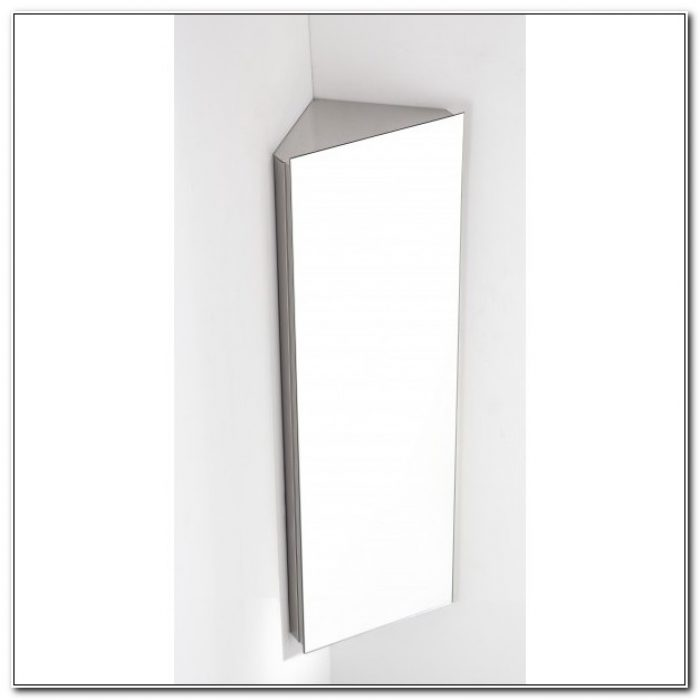 Bathroom Corner Mirror Cupboard