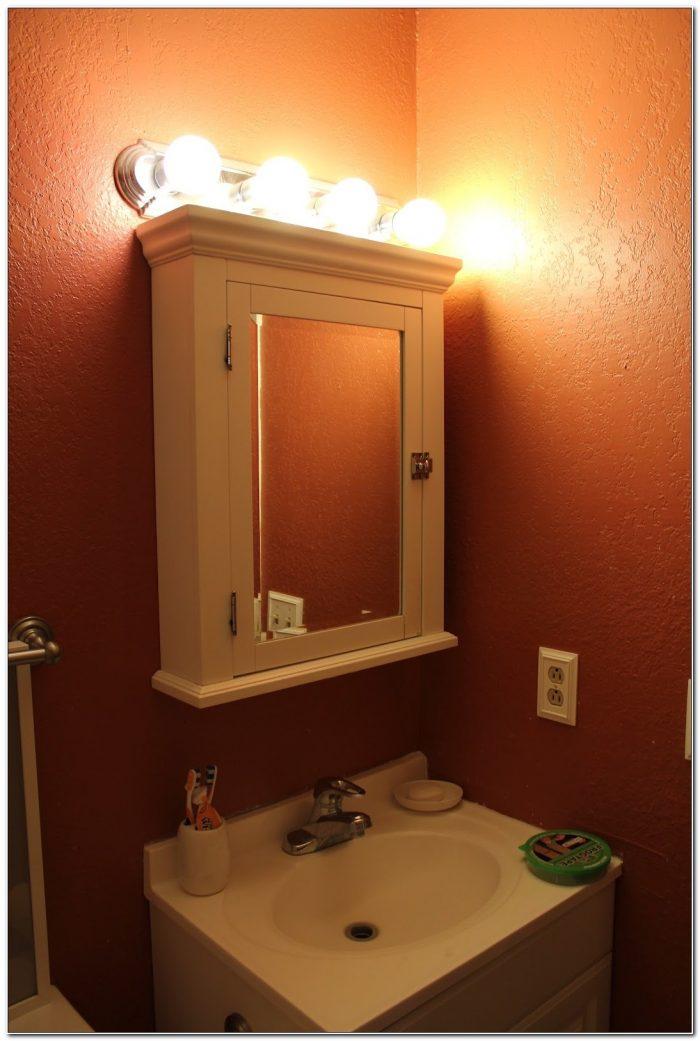 Bathroom Light Fixtures Above Medicine Cabinet