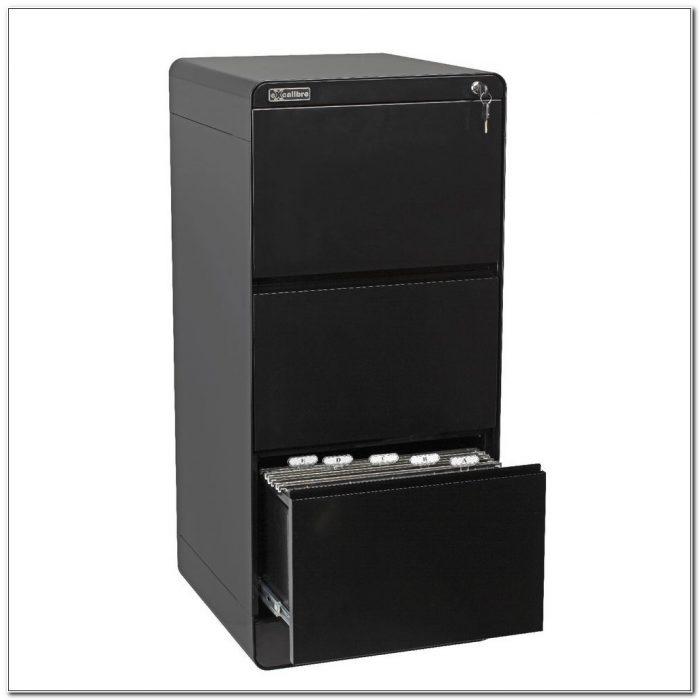 Black 3 Drawer File Cabinet