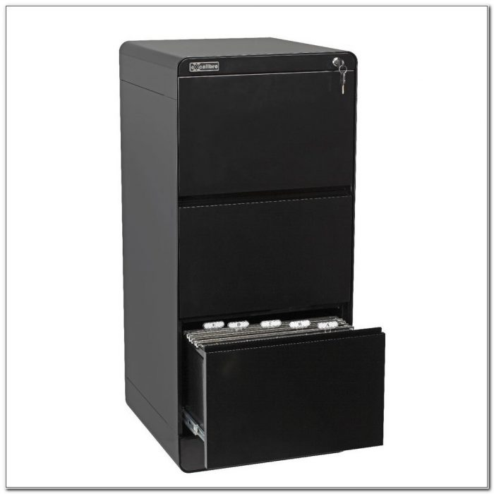 Black 3 Drawer Filing Cabinet