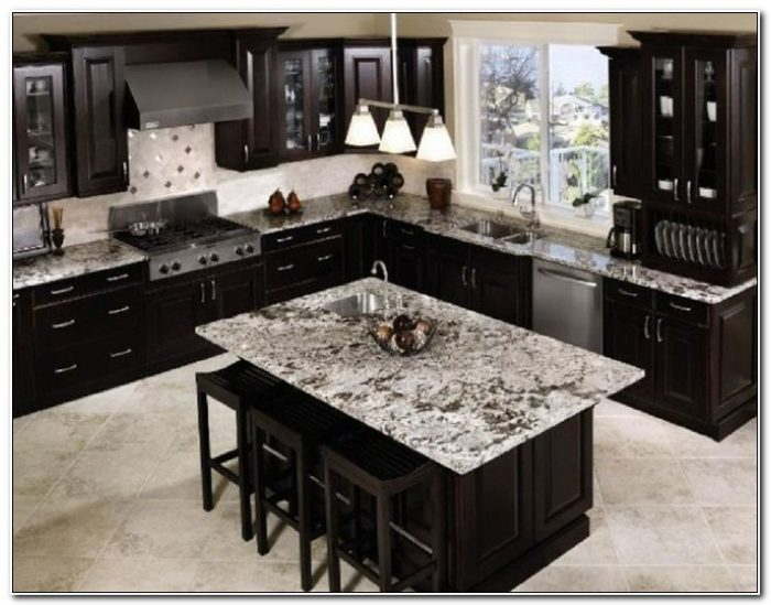 Black Cabinets With Granite Countertops