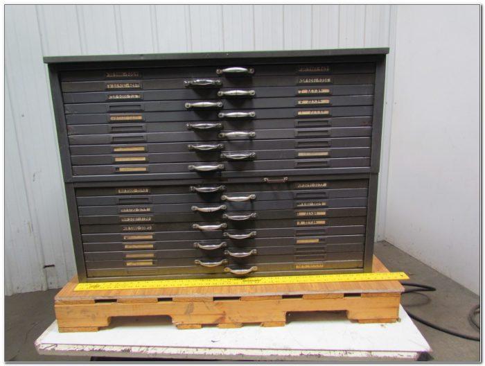 Blueprint Flat File Cabinet Used