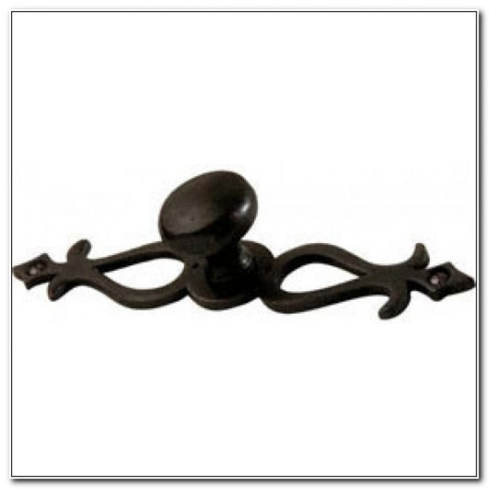 Bronze Cabinet Knob With Backplate