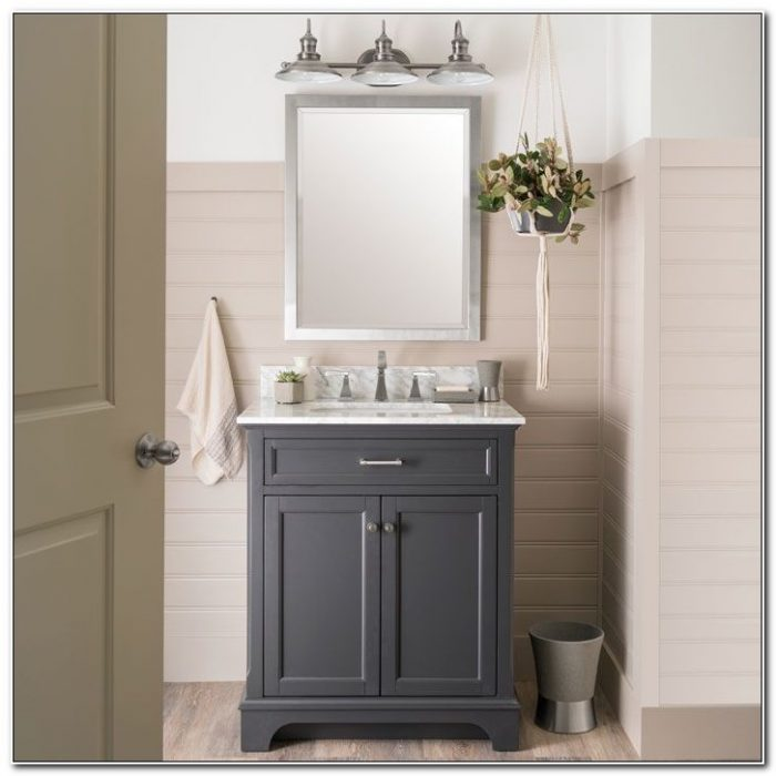 Brushed Nickel Bathroom Cabinet