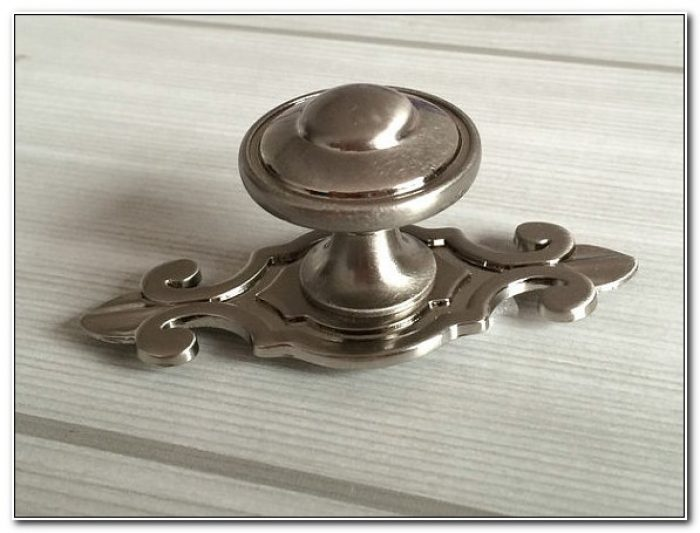 Brushed Nickel Cabinet Knobs With Backplate