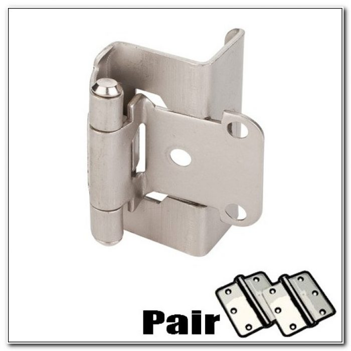 Brushed Nickel Overlay Cabinet Hinges