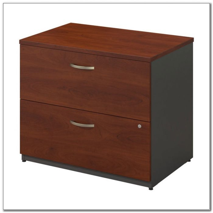 Bush Lateral File Cabinet Cherry