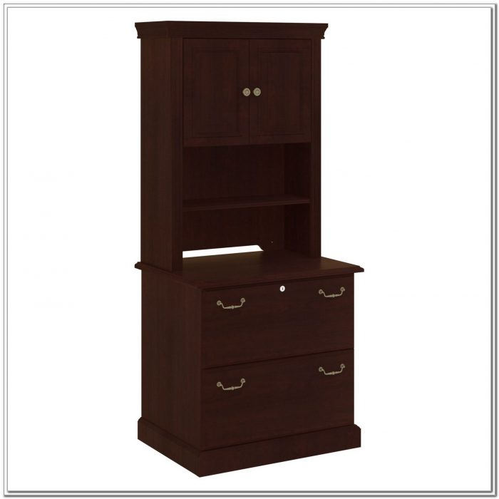 Bush Lateral File Cabinet With Hutch