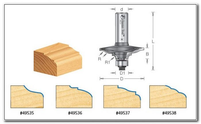 Cabinet Door Edge Detail Router Bit