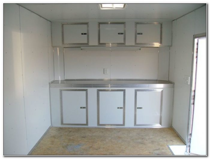 Cabinets For Enclosed Car Trailer