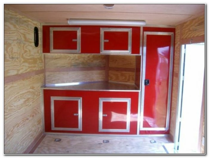 Cabinets For Enclosed Trailers
