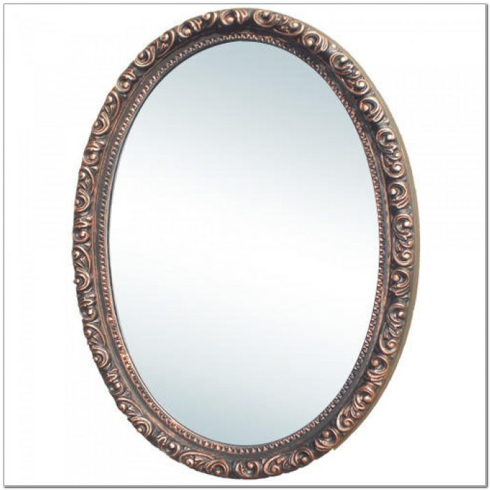 Camille Antique Oval Medicine Cabinet With Mirror