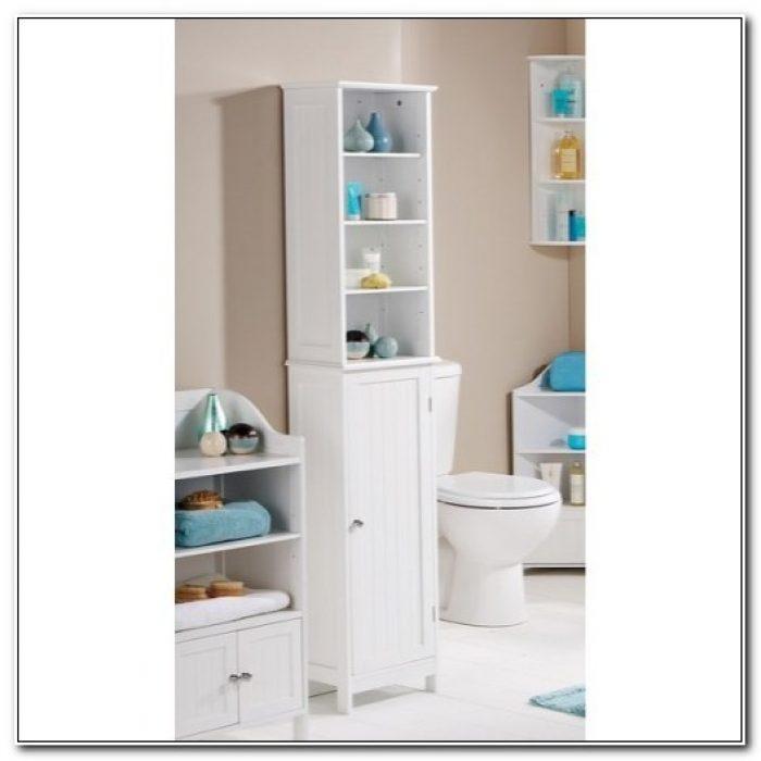 Cheap Tall White Bathroom Cabinets