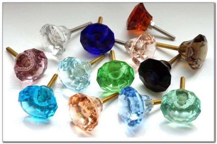 Coloured Glass Cabinet Door Knobs