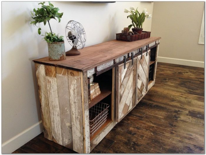 Console Table With Cabinet Doors