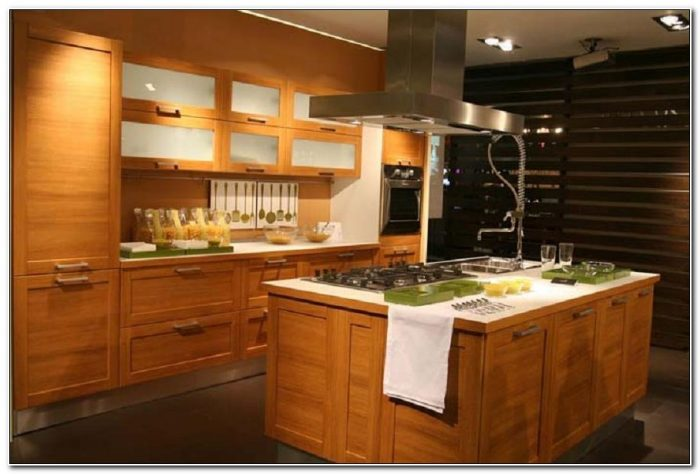 Contemporary Solid Wood Kitchen Cabinets