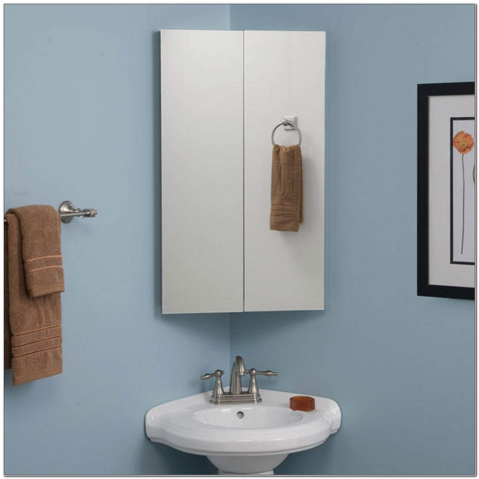 Corner Bathroom Cabinet No Mirror