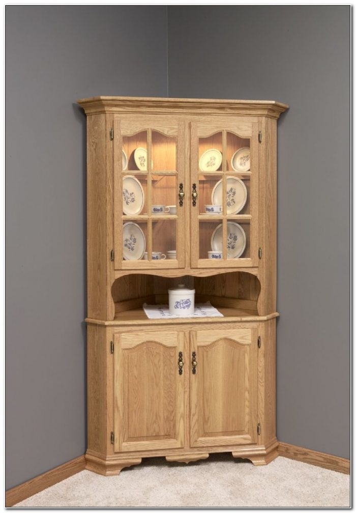 Corner Kitchen Hutch Cabinet