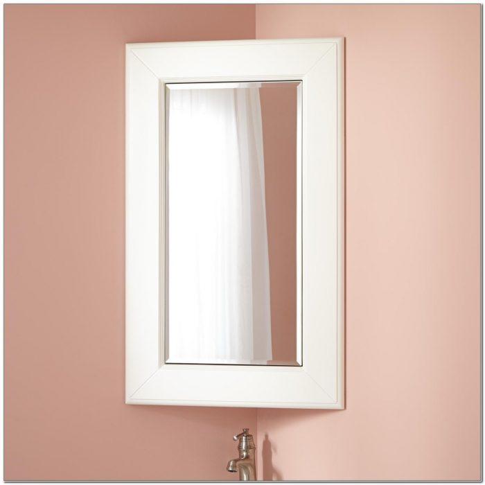 Corner Mirror Medicine Cabinet Bathroom