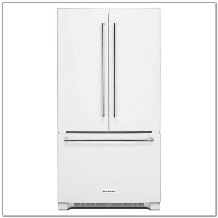 Counter Depth Refrigerator French Door White