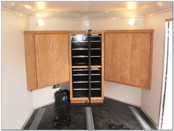 Custom Cabinets For Enclosed Trailers