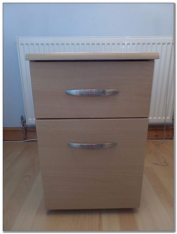 Dark Wood Effect Filing Cabinet