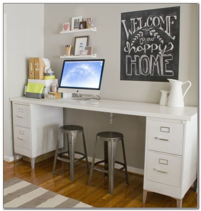 Desk With Filing Cabinet Legs