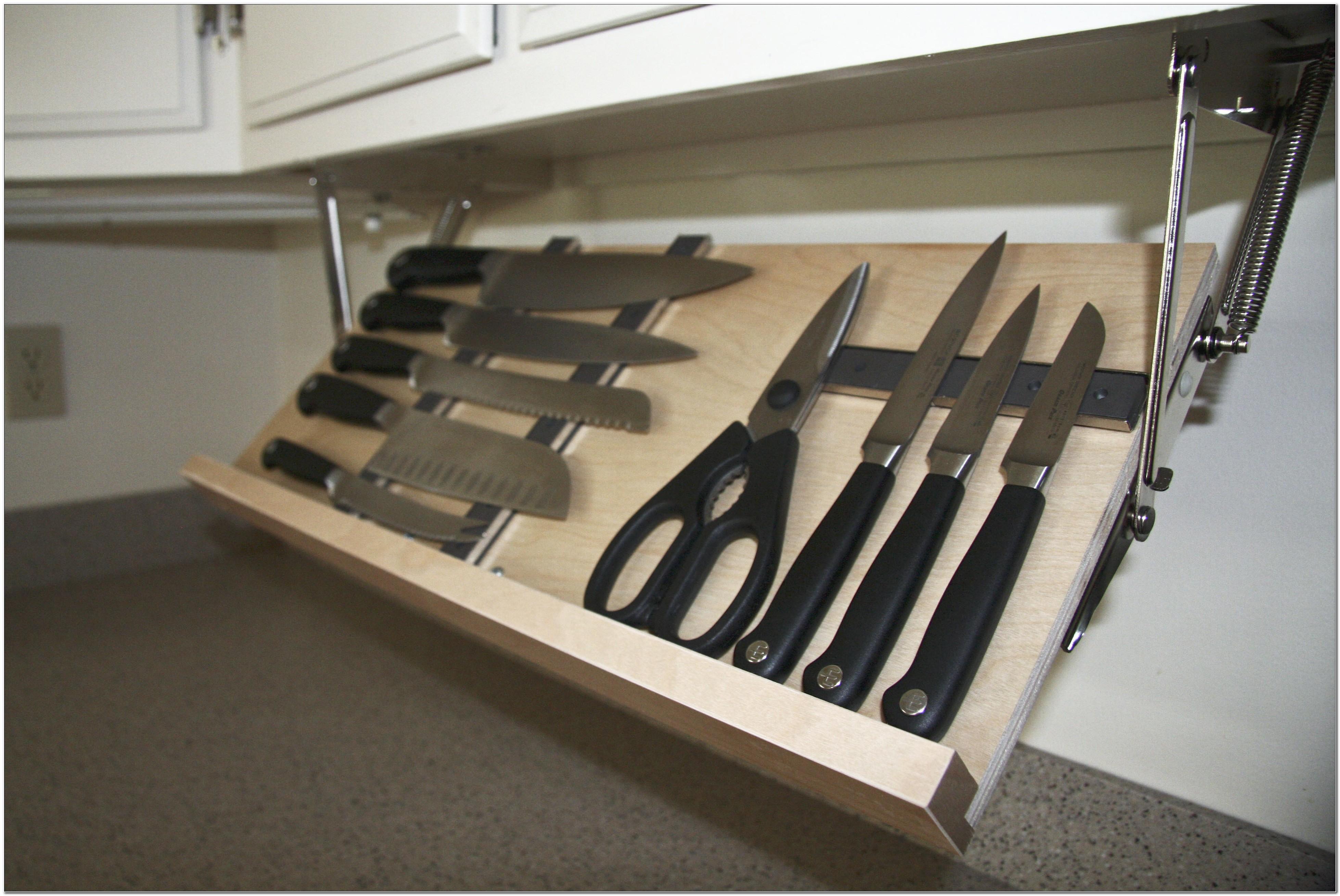 Diy Under Cabinet Knife Holder