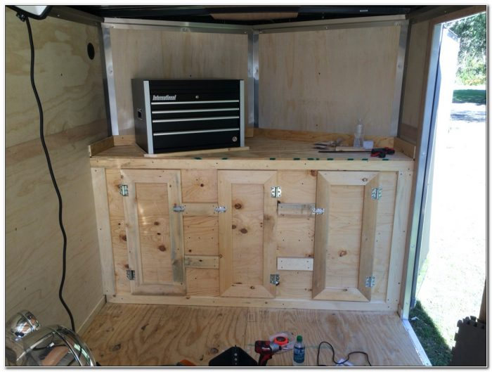 Diy V Nose Trailer Cabinets