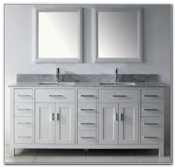 Double Sink Bathroom Vanity Cabinets 72