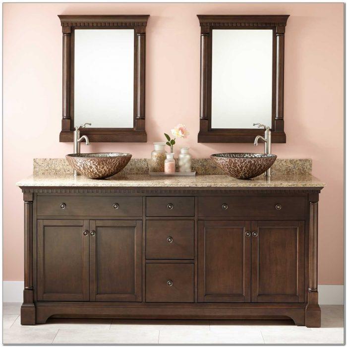 Double Sink Vanity Cabinet 72