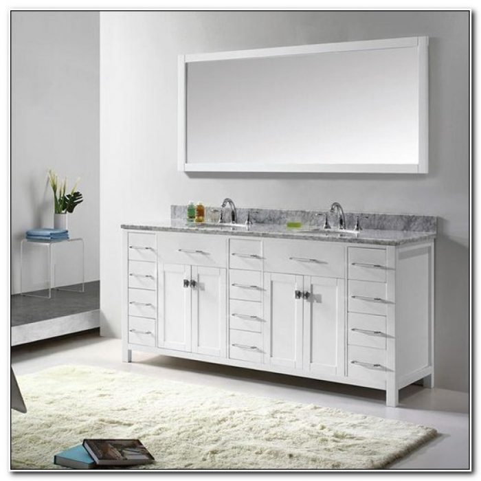 Double Sink Vanity Cabinet Only