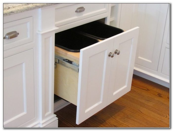 Double Trash Pull Out Cabinet