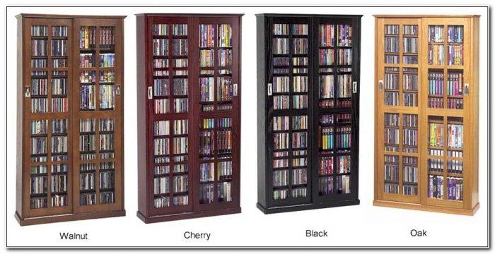 Dvd Storage Cabinet Glass Doors