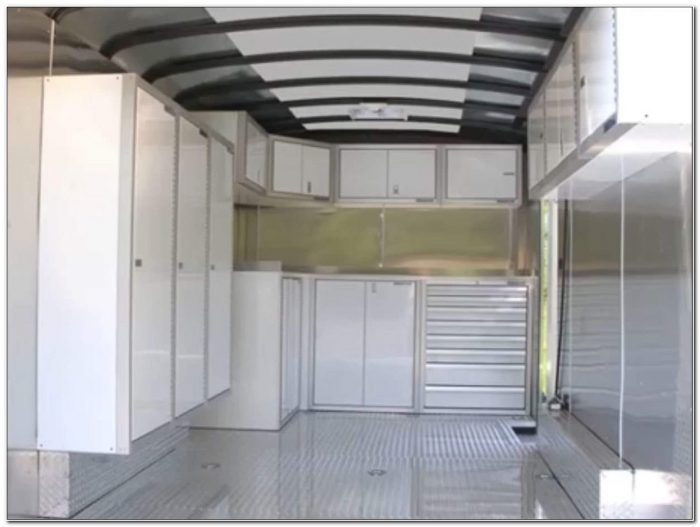 Enclosed Trailer Storage Cabinets