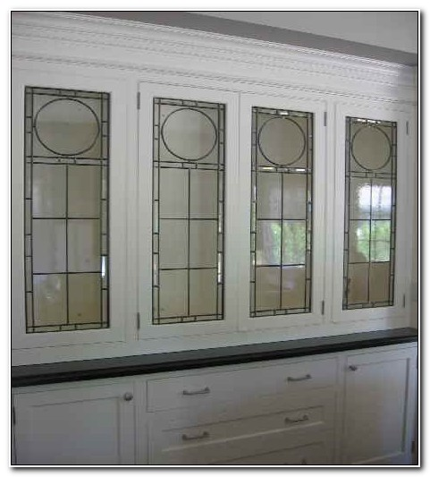 Fake Leaded Cabinet Door Stained Glass Inserts